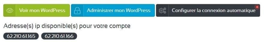 hébergement site WordPress